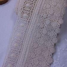 "Broderie Anglaise Cotton Lace Corchet Trim 11cm (4.3"") Ivory 1yd"