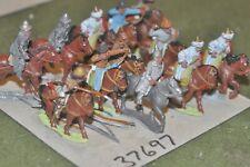 25mm roman era / hun - part painted 12 figures - cav (37697)