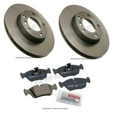 New BMW E36 E46 E85 323Ci Pair Set of 2 Front Disc Brake Rotors with Pads