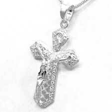 Artisan Sterling Silver Laser Cut Crucifix from Taxco Mexico