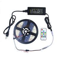 5M WS2811 5050 RGB 150 300 LED Strip IP67 12V RF Controller & Power Supply Kit