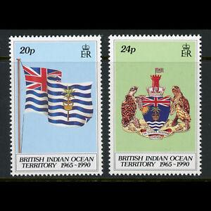 BRITISH INDIAN OCEAN TERRITORY 1990 25th Anniversary. SG 108-109. MNH. (WD739)