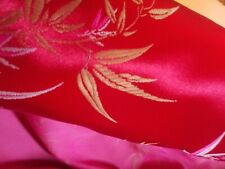 Oriental Fabric Chinese Red Bamboo Design by Zenith Olympic Textiles