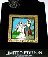 Le 100 Disney Pin✿Snow White Charming Wedding Princess Bride with Prince Spinner
