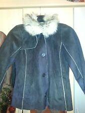 Weiche Wildlederjacke Jacke Größe 44 fast neu Winter Herbst Kunstpelz Pelzkragen