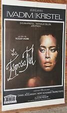 Used - Cartel de Cine  LA ESPOSA FIEL  Vintage Movie Film Poster - Usado
