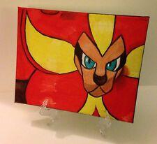 Male Pyroar Pokemon Oil on Canvas Painting OOAK Video game Anime Manga 8 x 10