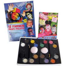 Eulenspiegel Schminkpalette 12 Farben Profi Palette Schminke Fasching 212011