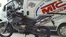 YAMAHA XT660Z Tenere Left Hand single stainless round ROAD LEGAL/RACE Exhaust