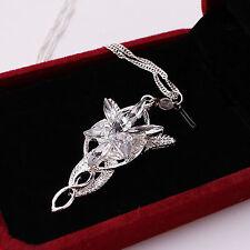 LOTR Lord Of The Rings Hobbit Aragorn Arwen EVENSTAR Crystal Necklace Pendant