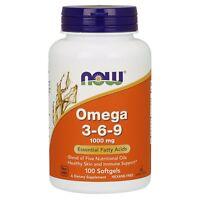 NOW Foods Omega 3-6-9, 1000 mg, 100 Softgels