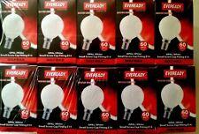 10 x 60 watt  SES (E14) GOLF BALL OPAL / PEARL  BULBS.TOP BRAND NEW.