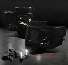 09 10 11 12 FORD F-150 PICKUP TRUCK SMOKE CRYSTAL HEADLIGHTS LAMP+HID 6000K KIT