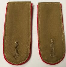 WWII GERMAN AFRIKA KORP DAK TUNIC SHOULDER BOARDS-ARTILLERY & STUG TANK