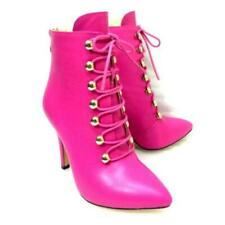 Women's Cross Strap Ankle Boots Back Zipper Pointy Toe High Heels Shoes Party L