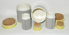 1960`s Hornsea Pottery Summertime  x2 Spice Jars & x2 Storage Jars