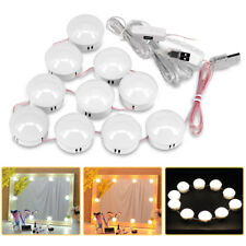 10 PCS LED Vanity Mirror Lights Kit with Dimmable Light Bulbs Hollywood Style
