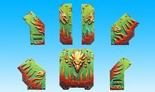 SPELLCROW 6x Ornements Véhicules Salamanders (Light Ornaments) *Warhammer Bitz*