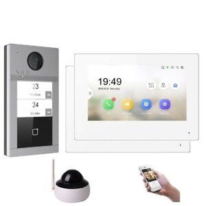 """WLAN IP Türsprechanlage für 2-Familienhaus mit 7"""" LCD Monitor und RFID, Kam HD"""