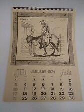 Ace Reid Cowpokes Calendars 1971 *clean Complete western Vintage cowboy cartoon