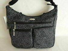Brand NEW BAGGALLINI EVERYWHERE Crossbody Bag Pewter Floral RFID Wristlet NWT