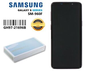 Genuine Samsung S9 G960F Complete LCD With Frame Assembly Unit In Purple