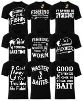 Fishing T-shirts Mens Funny Novelty Fishing Tackle Slogan Joke Birthday Gifts