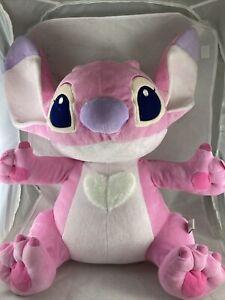 "Disney Store Lilo And Stitch Angel Pink Alien Plush 16"""