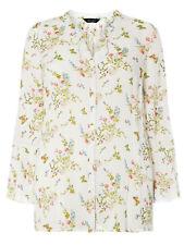 Evans ladies blouse shirt top plus size 24 26 28 30 32 white tie neck floral