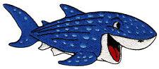 bk41 Haifisch Hai Blau Kinder Aufnäher Bügelbild Flicken Wal Patch 11,2 x 4,2 cm