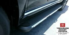 NEW TOYOTA 2014-2020 4RUNNER BLACK AND CHROME RUNNING BOARDS SR5 MODELS 2PC