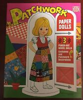 Patchwork Paper Dolls Books from the 70's Uncut GREAT SHAPE!