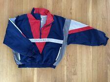 VTG Diadora Windbreaker 3/4 zip Jacket L Red Blue