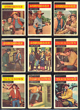 1958 TOPPS GUNSMOKE TV Westerns PARTIAL SET LOT 40/71 James arness Steve McQueen