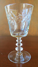 Libbey Rock Sharpe Empire Wreath #2002 Stem Water Goblet(s)