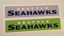 "Seattle Seahawks Fathead Banner Sign Lot (2) (18""x4"" Green & Grey) Wall Graphics"