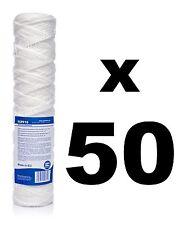 """50 x 10 Micron sedimenti FILTRO string-wound 10 """", osmosi inversa, il biodiesel."""