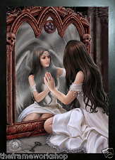 ANNE STOKES BLACK FRAMED ANGEL MAGIC MIRROR - 3D MOVING PICTURE 365mm x 465mm