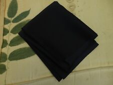 New Dark Navy Satin Back Crepe Fabric  33cm Long  x  1.12 Metres Wide
