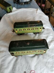 Lionel Lines Pre War 607 Pullman & 608 Observation Toy Train Car 2 Air Tanks