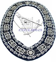 Masonic Collar PAST MASTER DELUXE Rhinestones with JEWEL Superb QUALITY 200SB/S