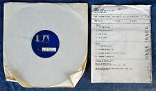 MARK RADICE - INTENSE  -ROADSHOW LBL  - 1977 LP - TEST PRESSING + TIMING STRIP