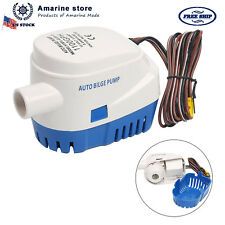 12V 1100GPH Automatic Submersible Boat Bilge Water Pump & Float Switch EAM