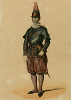 Antique Print-MILITARY-SWISS PONTIFICIAL GUARD-ROME-VATICAN-Anonymous-ca. 1840