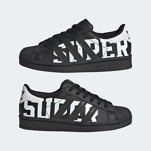 New Adidas Kids Trainers/ Adidas SUPERSTAR C/black sneakers/Size UK 2/2.5/£42.95