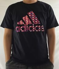 Adidas Men's Shirt Tee Badge of Sport Black USA 4th of July CW9809 Size 2XL