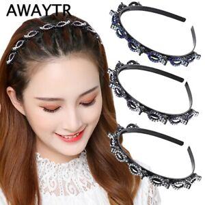 Rhinestone Baroque Hair Hoop Headband Crystal Hairband Women Hair Accessories