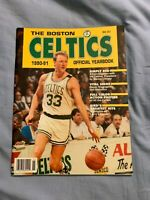 1990-91 Boston Celtics Official Yearbook Larry Bird