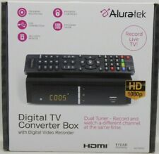Aluratek Digital Tv Converter Box with Personal Video Recorder Pvr (Adtb01F) New