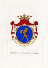 Araldica stemma araldico della famiglia Cannata di Polistena - Calabria